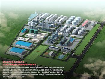 东营炼油厂工程鸟瞰图